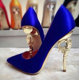 Wholesale Orange Pump Shoes Women - 2017 women eden Pointed toe pumps Wedding Collection SHOES heel Super sexy women high heel shoes