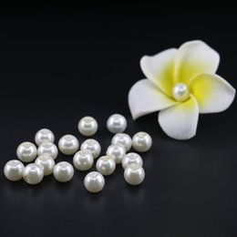 Wholesale 4mm White Pearls Beads - Cream glass pearl, 4mm, 6mm, 8mm, 10mm Off White Glass Imitation Pearl Bead with good quality