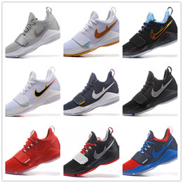 Wholesale Mens Colour Leather - 2017 New Arrivals PG Basketball Shoes Zoom Air Mesh Fashion Running Sport Shoes Mens Size 40-46 With Box & Free Shipping 9 Colour Optional