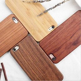 Wholesale Customized Engraving Wood Phone Case For Iphone Cover Nature Carved Wooden Bamboo Cases For Iphone s plus Samsung S7 S8 S6 edge