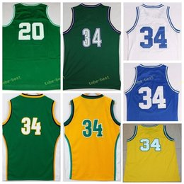 Wholesale Robinson Black - Retro Vintage 34 Ray Allen Jersey 20 Men Throwback Basketball 13 Glenn Robinson All Stitched Color Green White Purple Yellow With Name