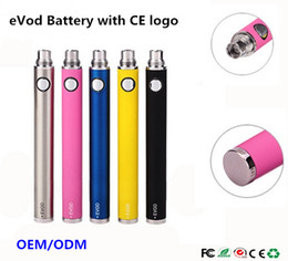 Wholesale Ego T Mt3 Evod - 10pcs EVOD Battery (with CE logo) Electonic Cigarette High Quality eVod Batteries 650 900 1100mAh vs Vision Spinner eGo T fo CE4 MT3 T3S Kit