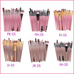 Wholesale Selling Wholesale Make Up - Hot sell 15Pcs Professional Make up Brushes Set Foundation Blusher Powder Eyeshadow Blending Eyebrow Makeup Brushes VS Kylie Lip Kits