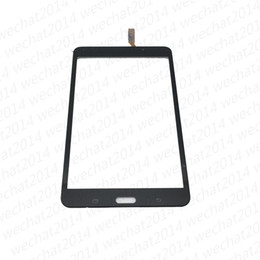 Wholesale Oem Digitizer Touch - OEM Touch Screen Digitizer Glass Lens with Tape Adhesive for Samsung Tab 4 7.0 T230 T231 free DHL Shipping