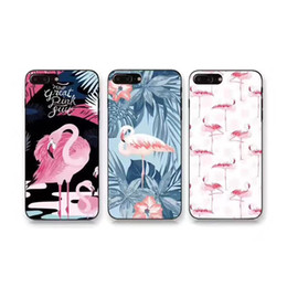 Wholesale Cartoon Bag For Iphone - For Iphone 6 6s 7 Plus Flamingo Ultra Thin Cartoon High Quality Slim Full Coverage TPU Back Cover Case OPP Bag