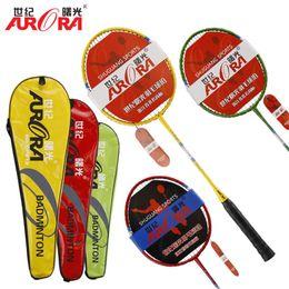 Wholesale Sports Training Equipment - Lightweight Badminton Racquet with Carry Bag 2Pcs Aluminium Alloy Training Badminton Racket Sport Equipment Durable