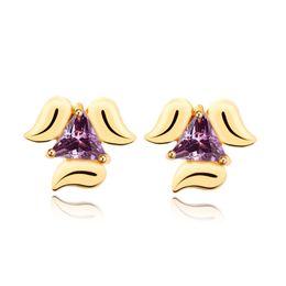 Wholesale Crystal Dog Earring Studs - Trendy 18K Gold Plated Earrings for Women Jewelry High Quality AAA Cubic Zirconia Luxury Lovery Dog Ears Stud Earring