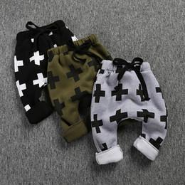 Wholesale Cheap Harem Pants - Kids pant trousers Winter fleece warm Boys Cross Harem Pants String Ins boys Children clothes 2016 wholesale cheap