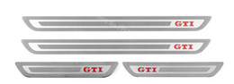 vw golf gti mk6 Sconti Accessori auto per VW Volkswagen Golf 6 GOLF 7 GTI R MK6 2012 2013 2014 2015 Door Sill Scuff Guards Sills adesivi piastra