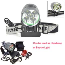 Wholesale Lumen Cycle Lights - 8000 Lumen 5T6 Cycling Headlight LED Bike Bicycle Light Headlamps Aluminum alloy Waterproof + Rear Light + Charger