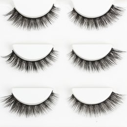 Wholesale Stage Eye Makeup - 3D Mink False Eyelashes Natural Long Crisscross Thick Messy Soft Fake Lashes Beauty Makeup Stage Stereo Fashion Lashes Eye Big Tool