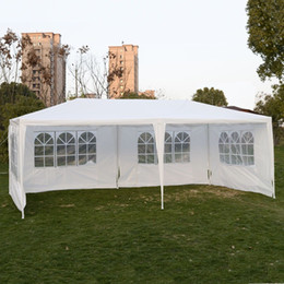tentes pour événements Promotion En plein air 10'x20'Canopy Party de mariage Gazebo Pavilion Cater Events 4 Sidewall