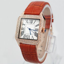 Wholesale Watches For Womens - Brand New Luxury Brand Womens Watch Quartz Movement Chronograph Genuine leather Strap relogies relojes Best Gifts for girl's wristwatch