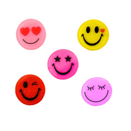 Wholesale Embellishments Mixed - 30Pcs 30mm Round Mixed Glitter Smile Emoji Resin Cabochons Planar Craft Jewelry Accessories Kids Party Deocrative GIFT Embellishment
