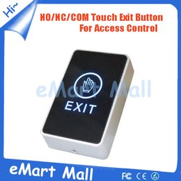 Wholesale Exit Push Button Switch - Wholesale- High Quality Exit Switch Button door release LED Light NO NC CM Push Button Switch For Door Access Control