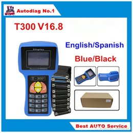Wholesale English Stock - T300 key programmer T 300 T-CODE key transponder key auto diagnostic tool For Multi-Brands T-CODE T-300 With English Spanish stock