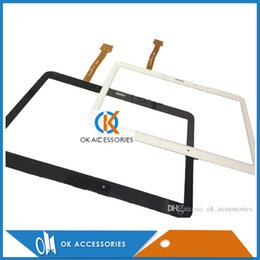 Wholesale Touch Screen Glass Repair - Touch Panel Glass Touch Screen Digitizer For Galaxy Tab 4 10.1 T530 Black White Color Repair Assembly 20PC Lot