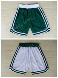 Wholesale Elastic High Waist Shorts - Boston Men 4 Isaiah Thomas Basketball Shorts 42 Al Horford 7 Jaylen Brown Short Pant Team Green White Color Breathable High Quality