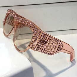 Wholesale Cats Summer - 0144 Sunglasses Limited Edition Sparkling Diamond Designer Frame Popular UV Protection Sunglasses Top Quality Fashion Summer Style For Women