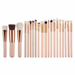 Wholesale Professional Light Kit - 20 Pcs Professional Makeup Brush Set Foundation Eyeliner Eyeshadow Mascara Lip Cosmetics Make Up Brush Tools Kits #228763