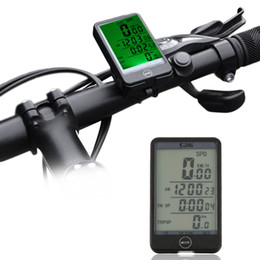 Wholesale Cycling 29 - 29 Functions Wireless Cycling Bike Computer Speedometer Odometer Stopwatch With Battery New Style
