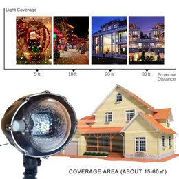 Wholesale Speed Projector - Snowfall lamp led projector lamps white snowflake light auto-moving remote speed Christmas holiday party Garden landscape outdoor decoration