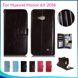 Wholesale Cover For Album - Wallet Case For ZTE Grand X4 Z956 For Huawei Honor 6X 2016 MATE 9 Pro Leather flip cover credit card photo album slots