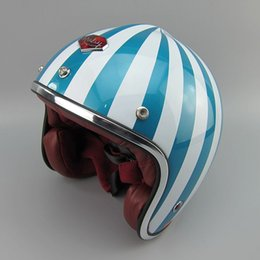 Wholesale Retro Helmets - Wholesale-France's top shipping authentic helmet half helmet retro helmets RUBY watermelon helmet vintage scooter for harley motorcycle