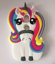 Wholesale Silicon G2 - 3D horse unicorn Cartoon Silicon cover For Motorola Moto G2 G3 G4 G4 plus G4 play G5 G5plus For iphone For samsung case