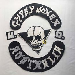 Parches joker online-Moda GYPSY JOKER AUSTRALIA MC Club Biker Chaleco parche bordado de hierro en la parte posterior de la chaqueta Parche de estilo de motocicleta Envío gratis