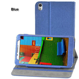 Wholesale lenovo inch case - PU Leather Cover with Stand Case for Lenovo PHAB Plus PB1-770N PB1-770M PB1-770 6.8 inch PHAB PB1-750N PB1-750M PB1-750 6.98 inch 100pcs