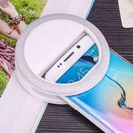 nuova fotografia leggera Sconti New Selfie Ring Light Portable Flash Led Camera Phone Fotografia Miglioramento fotografia per Smartphone iPhone Samsung