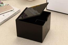 Многофункциональный блок онлайн-Известный бренд классический высококачественный акриловый макияж хлопок ящик для хранения косметические многофункциональные хранения ватные тампоны коробка с логотипом