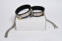 Wholesale Male Steel Chastity Belt Thigh - black silicone stainless steel male female chastity belt device chain thigh ring leg bondage restraints rings bdsm sex toys