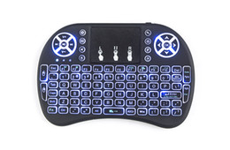 Wholesale Hot Rii - HOT rii i8+ style Neutral Wireless Backlight Keyboard Fly Air Mouse Multi-Media Remote Control Touchpad Handheld for TV BOX Android