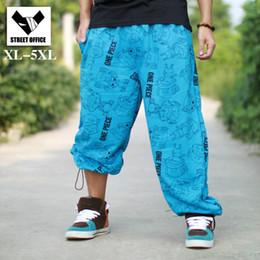 Wholesale Plus Size Thin Pants - Wholesale-Male spring thin hots jogger casual hip hop sweatpants hip-hop trouser loose hiphop street dance harem pants men plus size 5xl