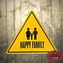 Wholesale Bakery Signs - T-Ray Crafts decor Happy Family Metal Tin Signs Dessert Shop Hanging Bakery Wall Decor Poster A-39 170314#