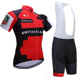 Wholesale Uci Bib Cycling - Switzerland 2017 UCI team cycling jersey bibs shorts set quick dry MTB Ropa Ciclismo cycling wear Pro BICYCLING Maillot Culotte