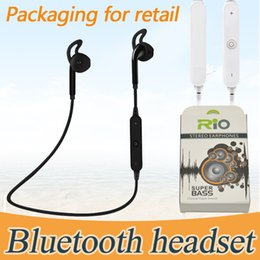 Wholesale Bluetooth Neckband Headset - Bluetooth Headphones Headset Sports Wireless S6 s9 Stereo Neckband Universal Running Phone Earphone With Retail Package Earbuds Power Sound