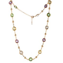 Wholesale Long Swarovski Necklace - Neoglory MADE WITH SWAROVSKI ELEMENTS Crystals Gold Plated Chokers Fashion Chain Maxi Long Necklaces For Women 2017 Jewelry New