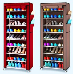 Wholesale Shoe Cabinet Rack - Dustproof Shoe Rack Multi Function Simple And Easy Storage Shoes Cabinet Non Woven Ten Layer Assembly Storage Racks Durable 30jj J R