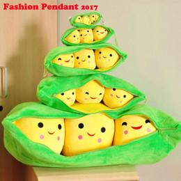 Wholesale Pea Key - Cute pea angle cartoon doll creative plush pendant Dutch pea pod 25cm key chain ornaments bag pendant