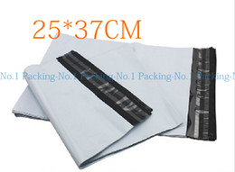 Wholesale White Poly Mailers Envelopes Bags - Wholesale- 100pieces lot EB#2:25x37cm 9.8x14.6inch Poly mailer white poly mailing envelope poly post courier Online shipping express bags