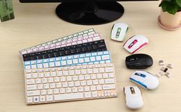 2019 clavier pour apple tv 10 PCS haute qualité nouvelle 2.4G sans fil Keybaord et souris Combo Ultra-mince Mini Métal Clavier Sans Fil Souris Kit Livraison Gratuite HK3910