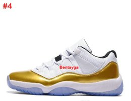 Wholesale Sporting Medals - 2017 Womens Varsity Red Retro X1 11 low QS Bred georgetown basketball shoes Citrus mens athletic trainer sports Hot sell 11s Gold Medal shoe