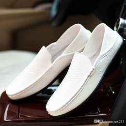 Wholesale Shoes Sex White - sex summer trends in europe and america british size farmer boat shoes stylish and comfortable shoes mens doug flatties DHL free shipping