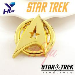 Wholesale Wholesale Costume Jewelry Pins - Wholesale- HEYu Fashion Movies Star Trek Brooch Pins Star Trek Fhirt Costume Lapel Pin Brooch Accessories Jewelry Dropshipping