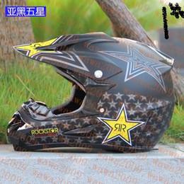 Wholesale Motorcycle Motocross Bike Cross - new rockstar cascos capacete motorcycle helmet ATV Dirt bike downhill cross off road motocross helmets DOT Off-road helmet wlt racing helmet