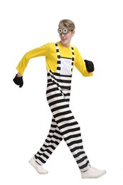 Wholesale Despicable Minion Halloween Costume - Minion Suit Halloween Anime Despicable Me Cosplay Costumes Suits Boys Girls Kids adult Party Clothes