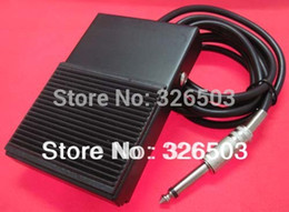 Wholesale Tattoo Gun Foot Switch - Wholesale-One Square Black Iron Tattoo Foot Pedal Switch For Machine Gun Power Supply TFS01